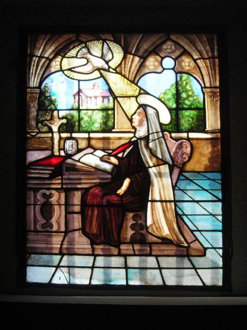 Santa Teresa Escritora, recibiendo la Inspiración Divina