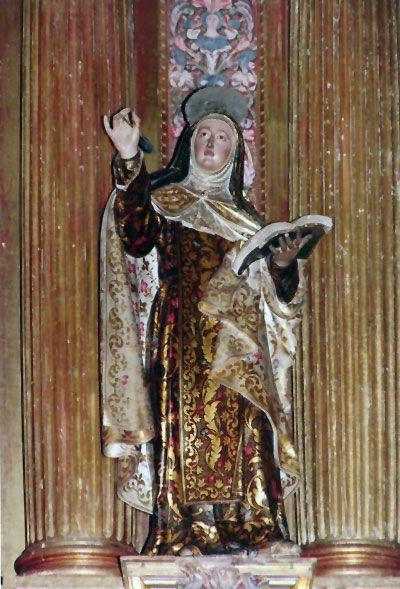 La imagen de Santa Teresa, Doctora de la Iglesia
