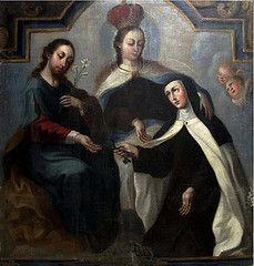 Santa Teresa de Jesús entrega la llaves de la Clausura del Carmelo