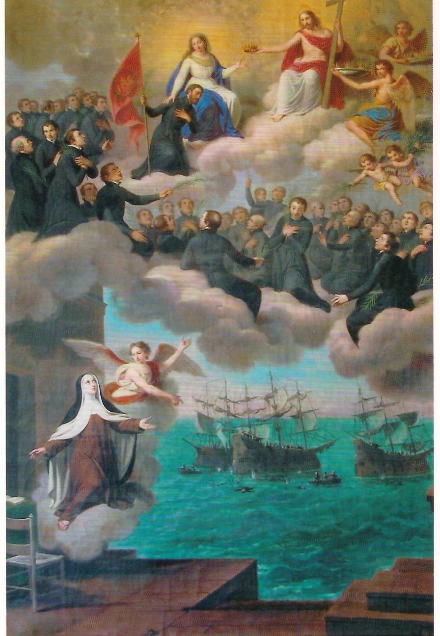Los Mártires de Tazacorte o del Brasil visión de Santa Teresa