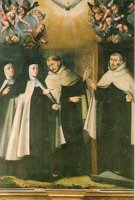 Santa Teresa visita a los dos primeros Carmelitas Descalzos en Duruelo