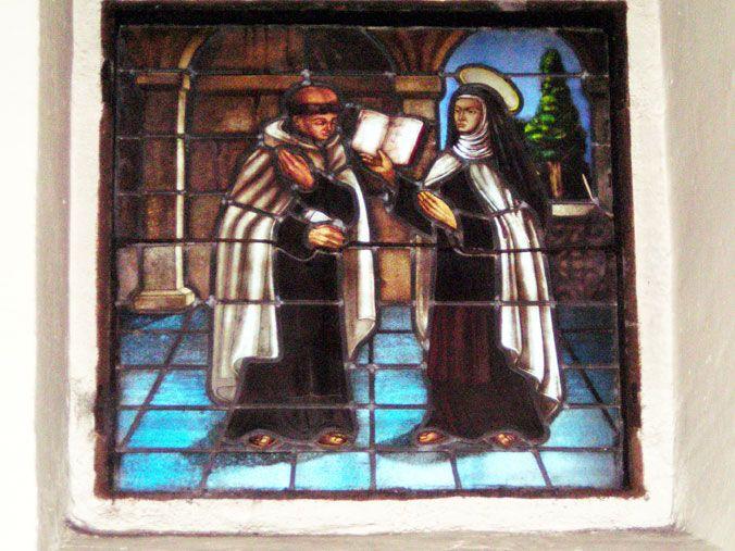 Santa Teresa instruye a San Juan de la Cruz