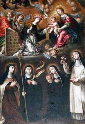 Virgen con el Niño y las Santas Monjas