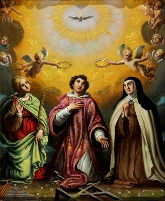 Santa Cecilia, san Lorenzo y santa Teresa de Jesús
