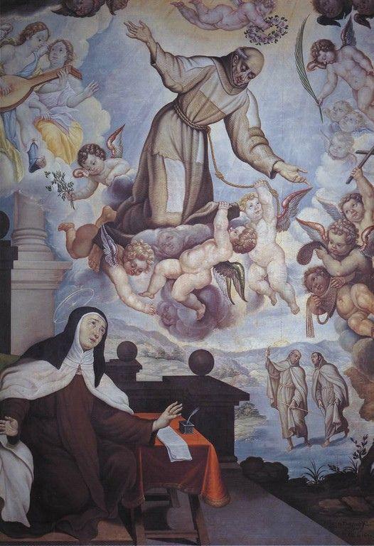 Aparición de San Pedro de Alcántara a Santa Teresa de Jesús en carmelitas Descalzas, Sepulcro de Santa Teresa