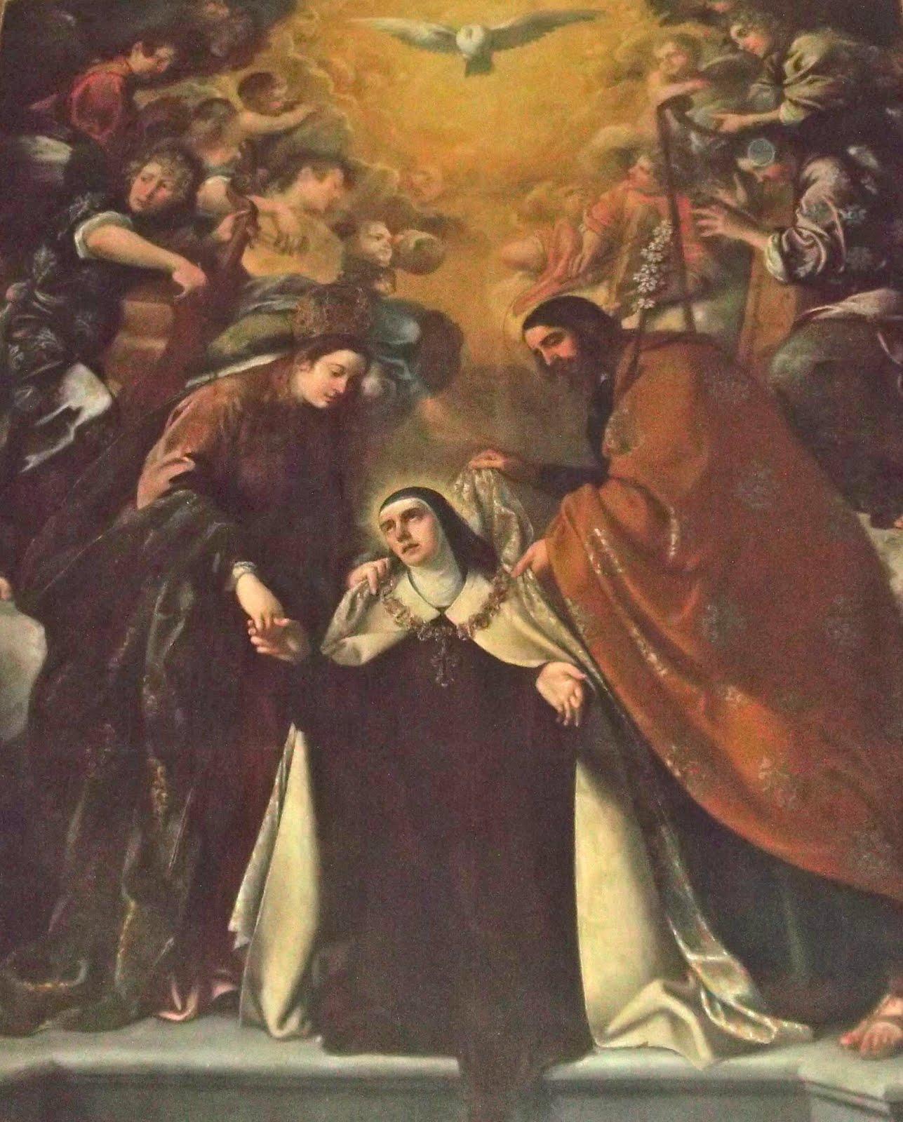 Imposición del Collar a la santa por la Virgen y San José (Vida, XXXIII)