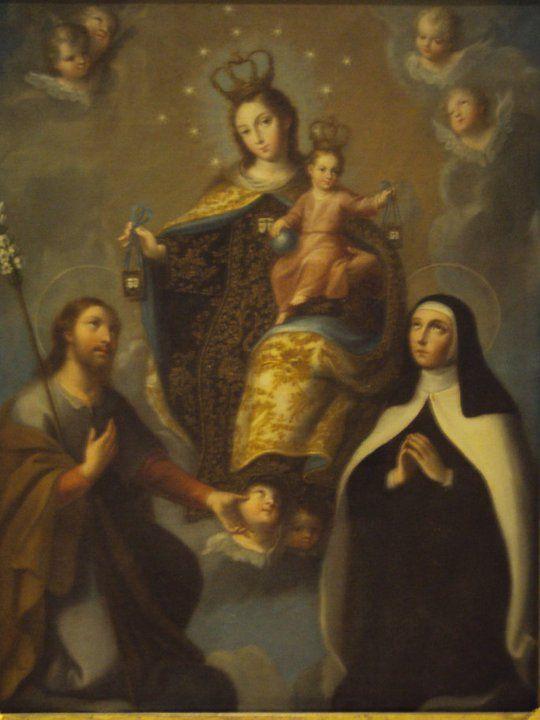 Ntra. Sra. del Carmen, con San José y Santa Teresa de Jesús en carmelitas Descalzas, Sepulcro de Santa Teresa