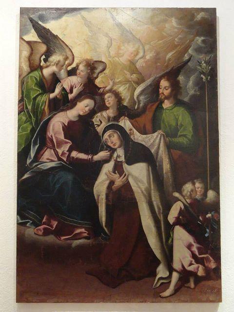 La Visión del Manto y del Collar de Santa Teresa de Jesús en carmelitas Descalzas, Sepulcro de Santa Teresa