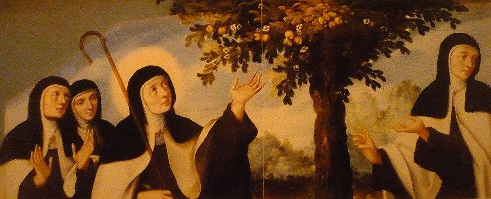 Santa Teresa de Jesús con compañeras