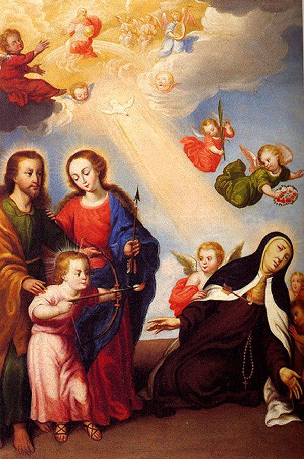 Transverberación de Santa Teresa con la Sagrada Familia