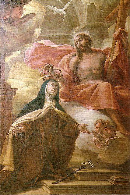 Coronación mística de Santa Teresa de Jesús en carmelitas Descalzas, Alba de Tormes