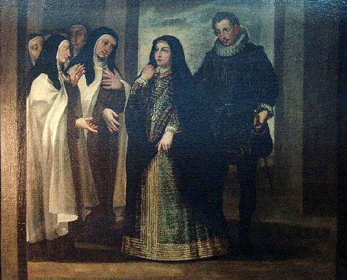 Ingreso de Santa Teresa en el Convento de Ávila