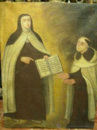 San Pedro de Alcántara se manifiesta a Santa Teresa