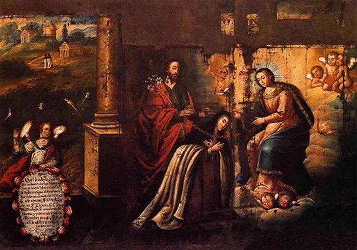 Santa Teresa. Visión del collar