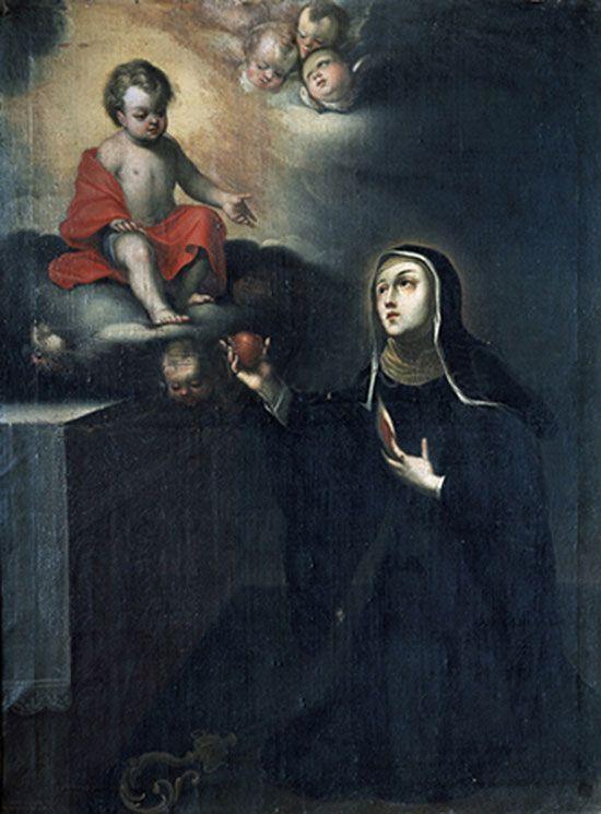Santa Teresa con Jesús Niño