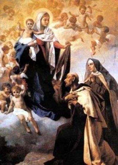 Nuestra Señora del Carmen con San Juan de la Cruz y Santa Teresa de Jesús