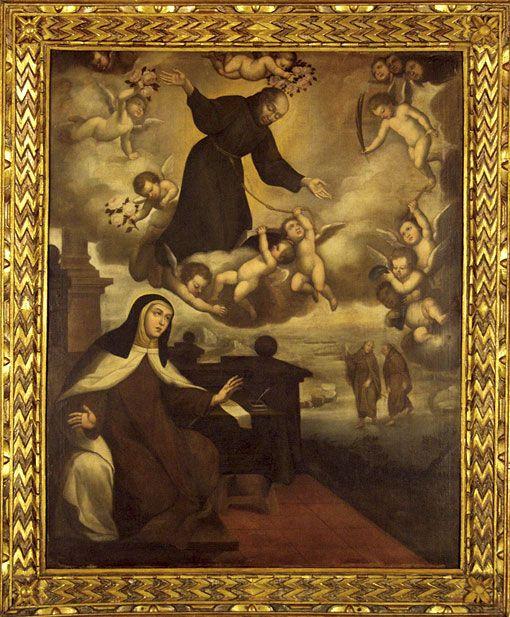 San Pedro de Alcántara se aparece a Santa Teresa