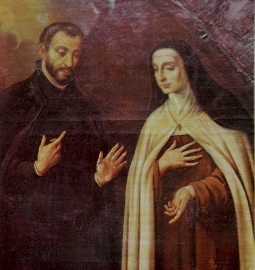 Santa Teresa con el Padre Baltasar Álvarez