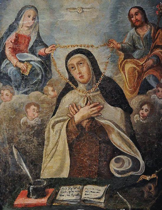 La Imposición del Collar a Santa Teresa