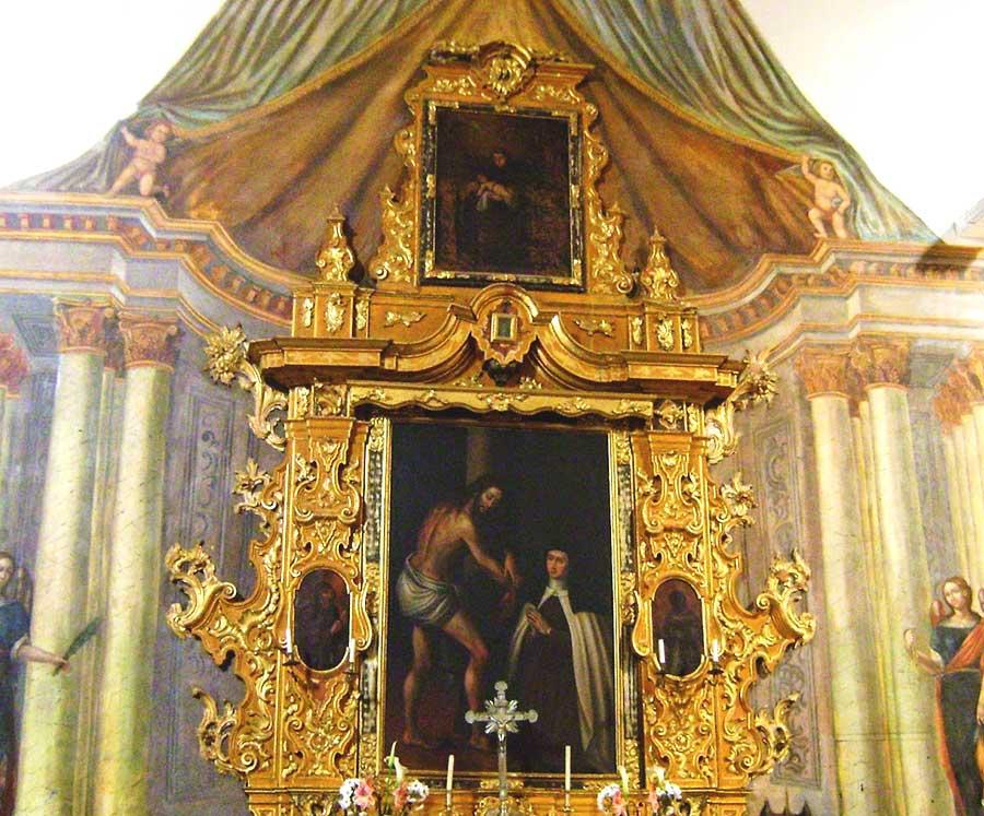 Santa Teresa, en éxtasis, adora a Jesús atado a la Columna