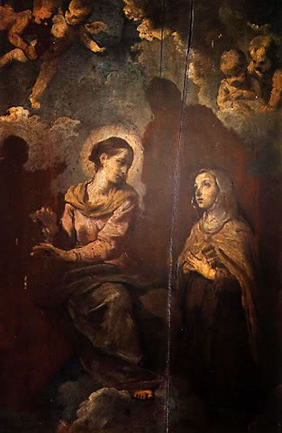 Aparición de la Virgen a Santa Teresa