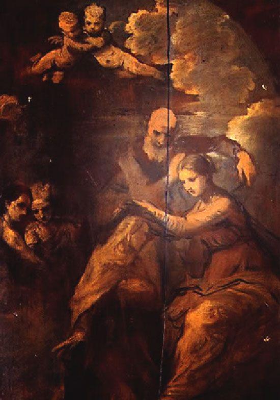 La Virgen coronando a Santa Teresa