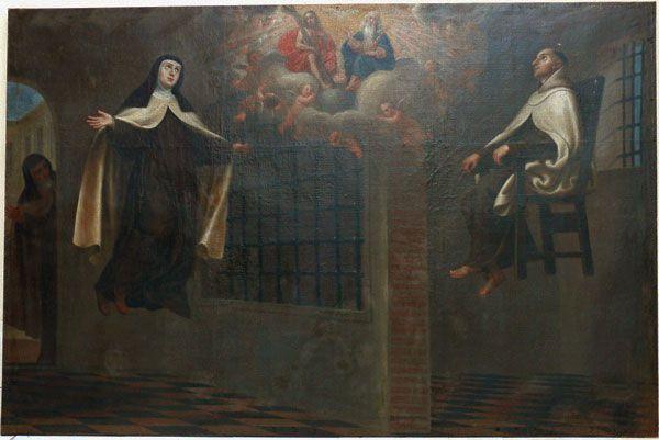 Levitación de Santa Teresa y San Juan de la Cruz en la Encarnación de Ávila