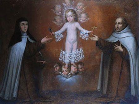 El Niño Jesús entregando atributos de la Pasión a Santa Teresa de Jesús y a San Juan de la Cruz