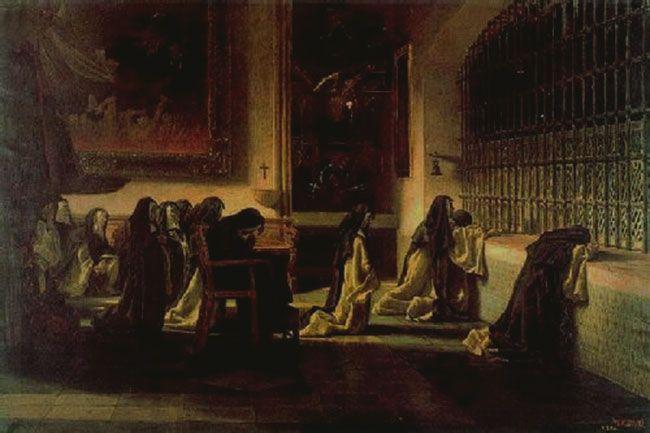 Las monjas orando