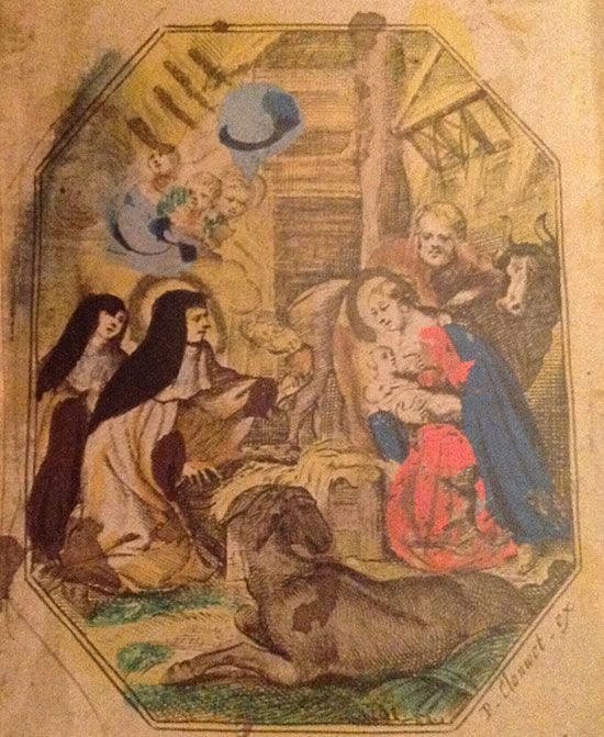 Santa Teresa adora al Niño Jesús