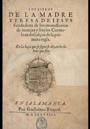 Portada de libro de Santa Teresa