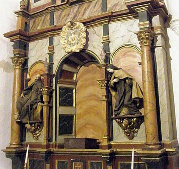 San Pedro de Alcántara confiesa a Santa Teresa