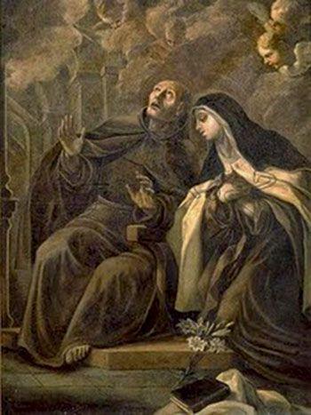 San Pedro de Alcántara con Santa Teresa