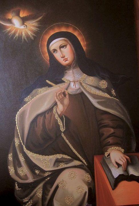 Santa Teresa inspirada por el Espíritu Santo
