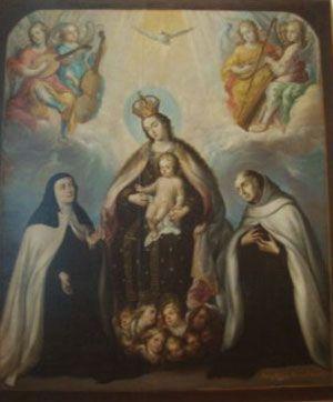 Virgen del Carmen con San Juan de la Cruz y Santa Teresa