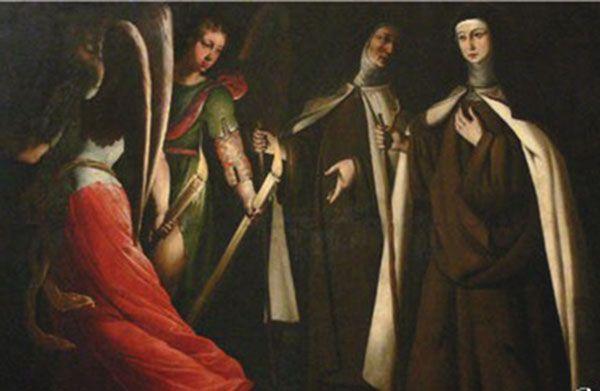 Santa Teresa guiada por los ángeles