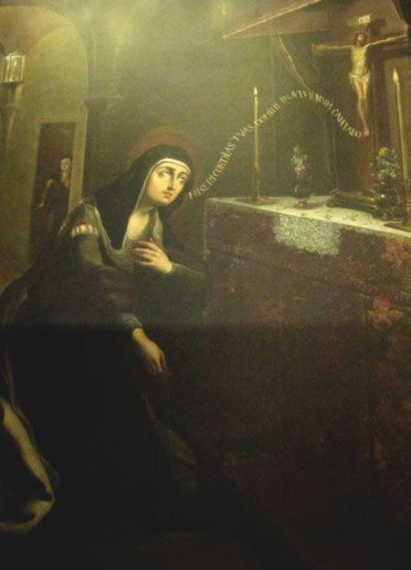 Santa Teresa mortificándose