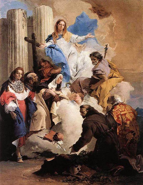 La Virgen exhorta a Santa Teresa para que nombre a San José patrono de la Orden