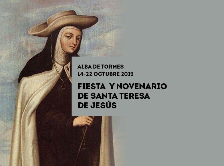Programa de fiestas de la Muerte y Novena de Santa Teresa de Jesus Octubre 2019