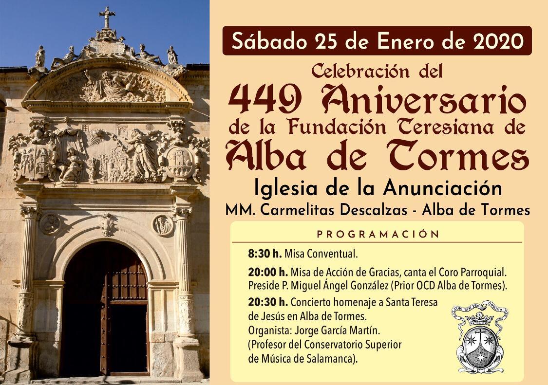 CONCIERTO HOMENAJE A SANTA TERESA DE JESÚS EN ALBA DE TORMES 25 DE ENERO DE 2020